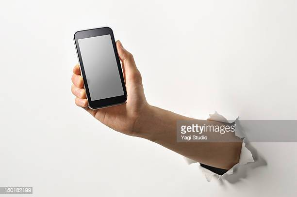Smartphone on the hand