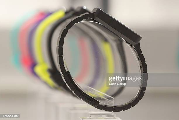 Smartwatches stand on display at the Sony stand at the IFA 2013 consumer electronics trade fair on September 5, 2013 in Berlin, Germany. The 2013 IFA...