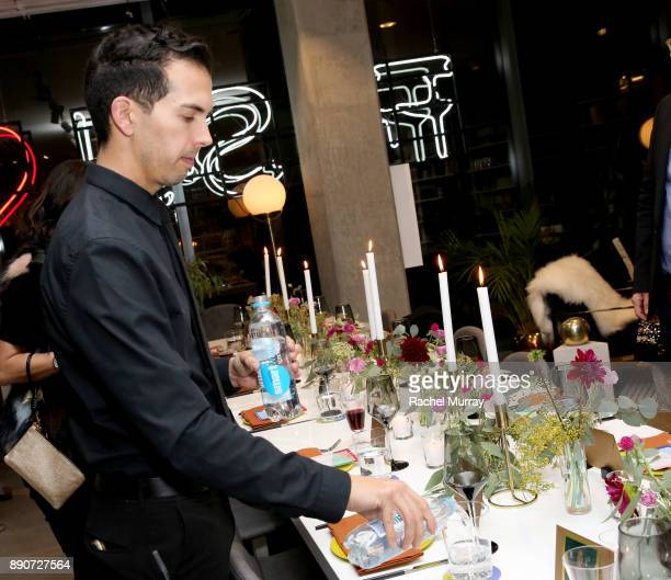 SmartWater is served at the Domino Outpost CB2 Influencer Dinner at Fred Segal on December 11 2017 in Los Angeles California