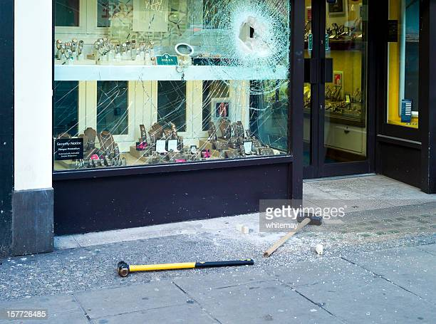 smash and grab - london west end - jewelry store stock pictures, royalty-free photos & images