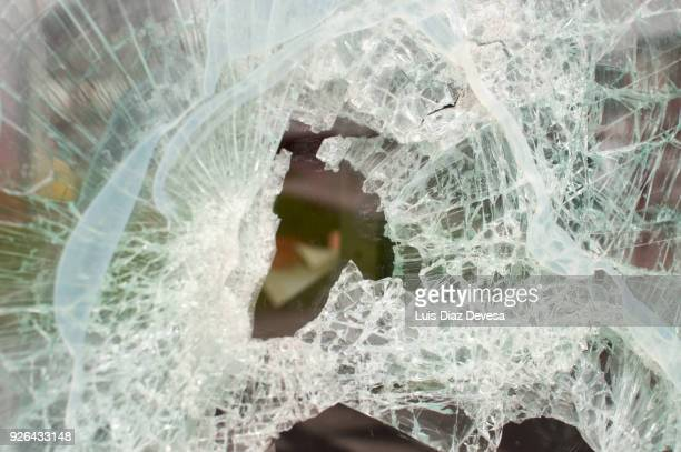 smashed cafeteria  window - vandalism stock pictures, royalty-free photos & images