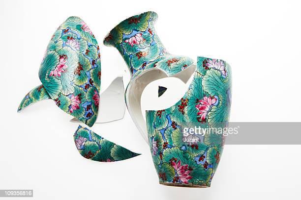 Smashed Chinese Vase
