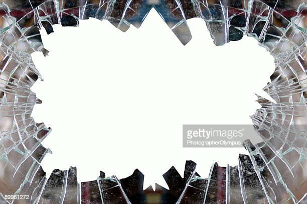Gebrochen Glas-Rahmen