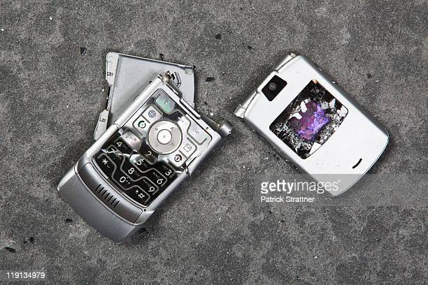 A smashed mobile phone