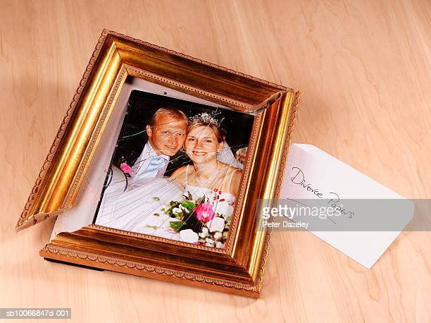 Smashed wedding picture