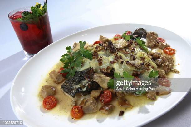 Smashing Forest Berry Home made mix berry pure and spice syrup mixed with lime bourbon whisky and a hint of mint and Whole turbot baked with porcini...