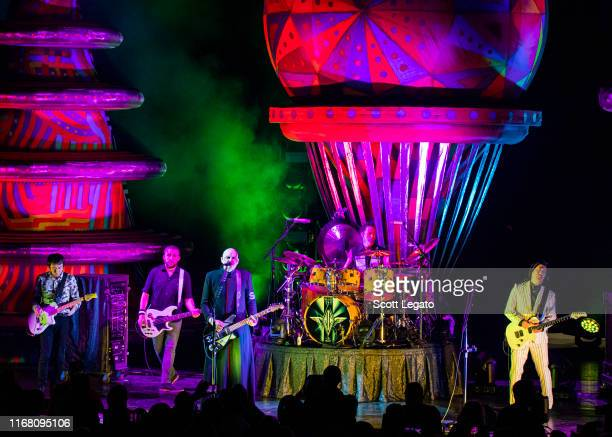 Smashing Pumpkins perform at DTE Energy Music Theater on August 14 2019 in Clarkston Michigan