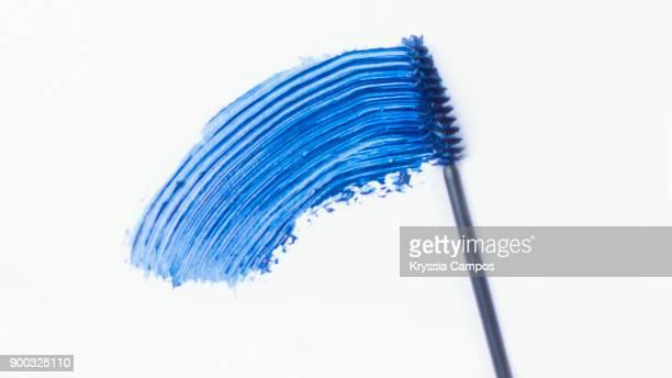 A Smear Of Blue Mascara and Brush