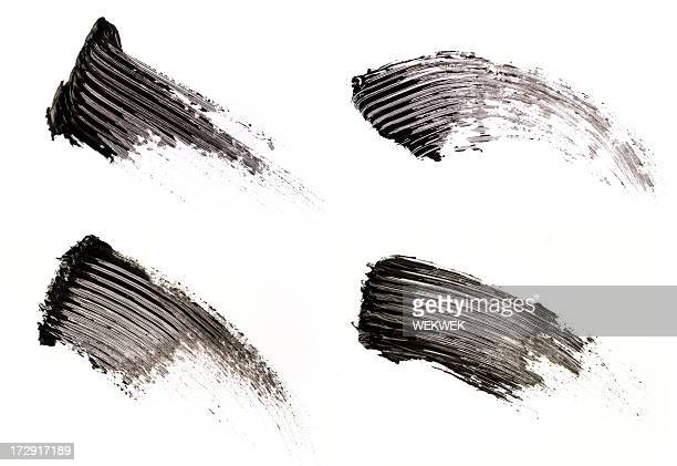 smear of make-up - mascara stock pictures, royalty-free photos & images