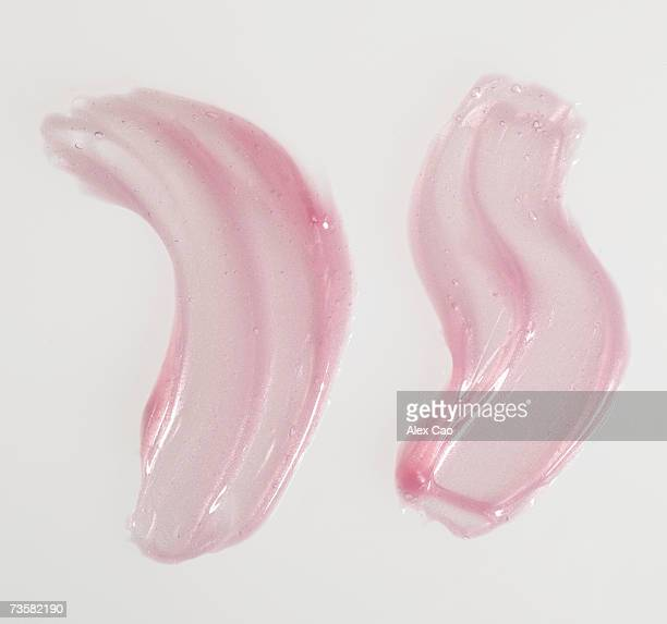 Smears of pink lip gloss