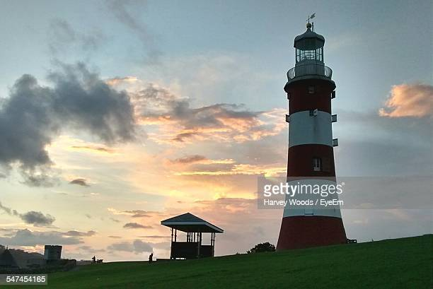 Smeatons Tower Lighthouse During Sunset