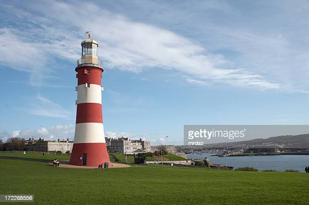 Smeaton's Tower lighthouse in Plymouth, UK