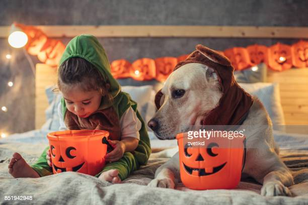 i smell some chocolate - halloween kids stock photos and pictures