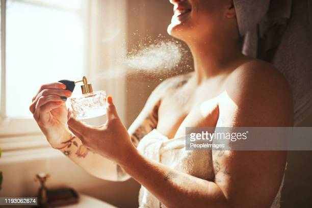 smells like it's going to be a beautiful day - perfume stock pictures, royalty-free photos & images