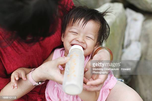 Smile Angel with Her Milk