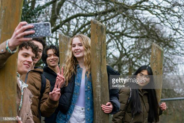 smile for a selfie! - digital native stock pictures, royalty-free photos & images