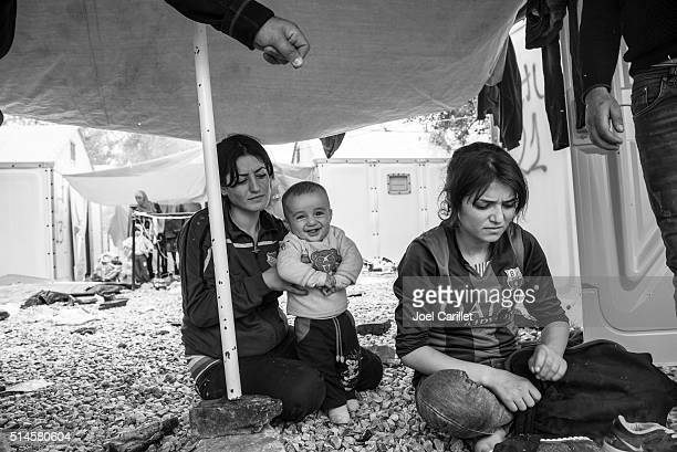 Smile in a refugee camp (Lesbos, Greece)