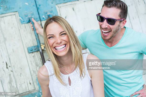 smile! - caucasian appearance stock pictures, royalty-free photos & images