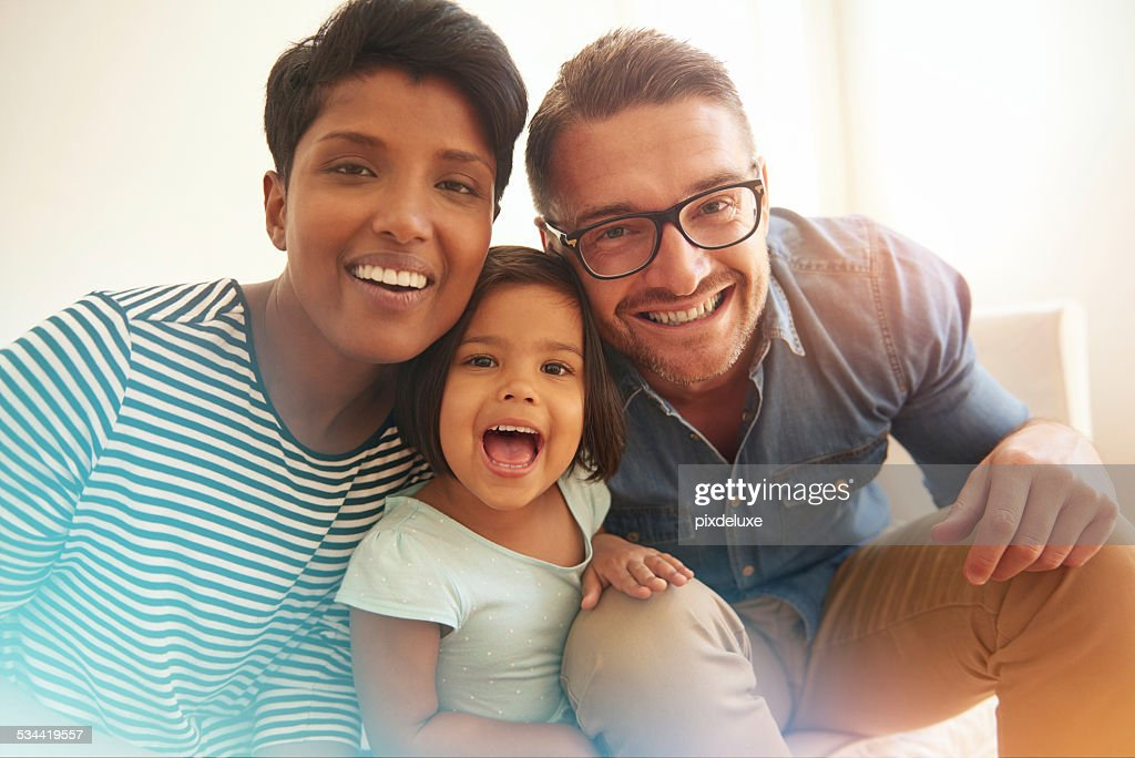 Smile! We're family : Stock Photo