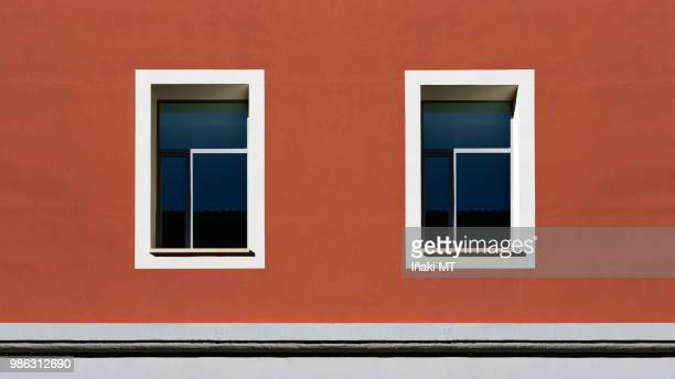Smile - Windows in a red building