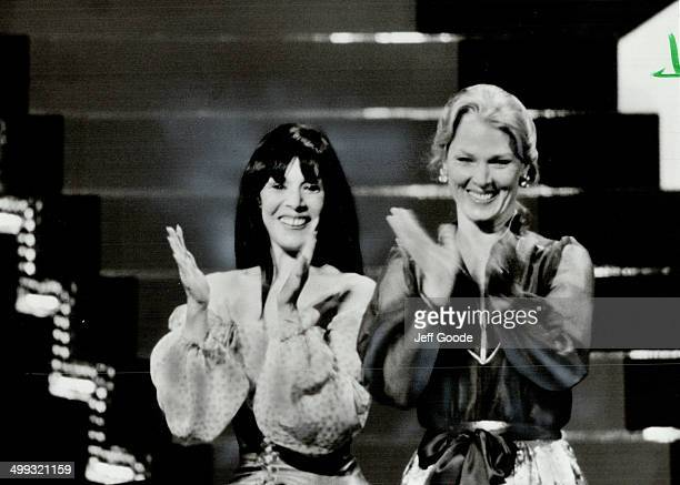 Smiles all around Canadian actresssinger Gale Garnett and American Actress Mariette Hartley looked just as happy as Saul Rubinek after they presented...