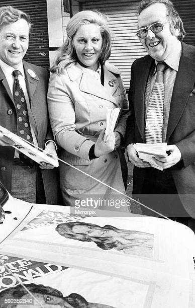Smiles all the way from the Scottish National Party lineup yesterday of Dr Craig Rankin Margo MacDonald and James Anderson 5th November 1973