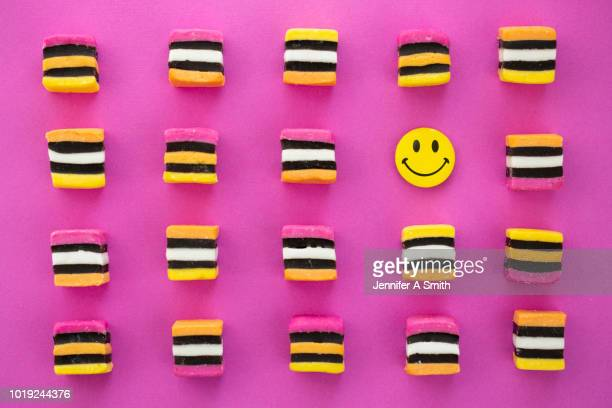 smiley allsorts - smiley face stock pictures, royalty-free photos & images