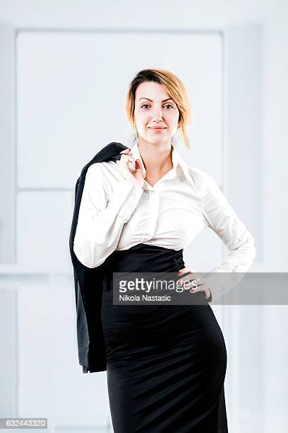 Smiley Geschäftsfrau