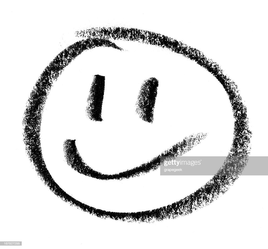 Smiley Face Drawing : Stock Photo
