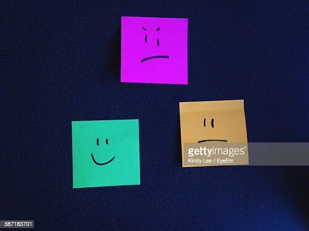 Smiley Face Drawn On Sticky Notes