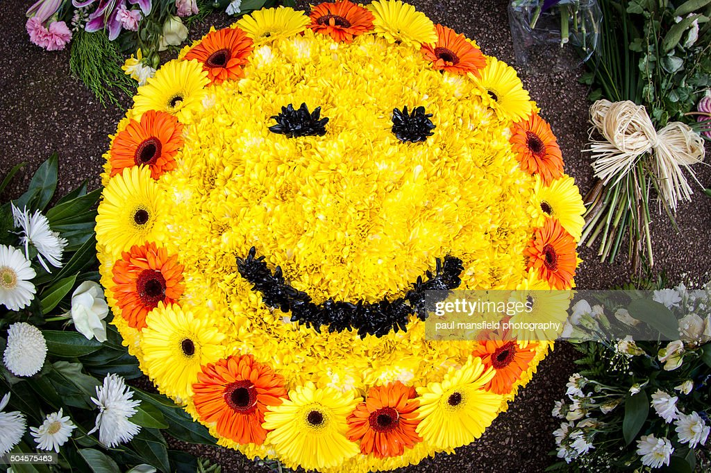 Smiley Face Made With Flowers Stock Photo | Getty Images