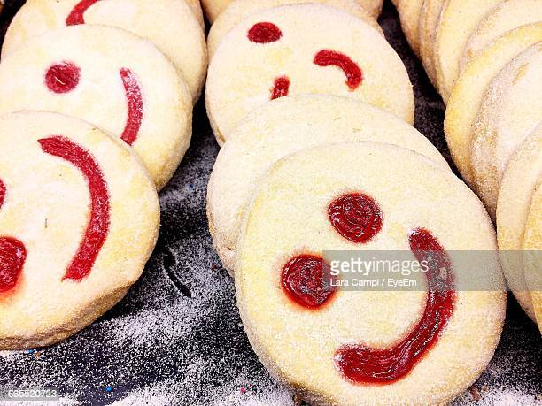 Smiley Face On Baked Cookies