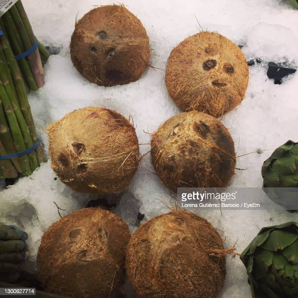 smiley supermarket ice-coconut pals - lorena day stock pictures, royalty-free photos & images