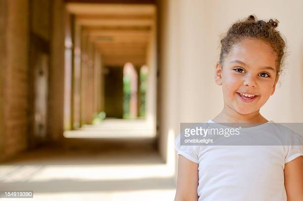 Smiling 4 Years old Girl Portrait Outdoor
