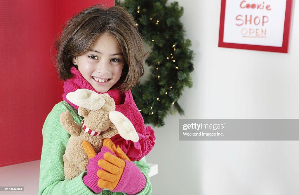 Lächeln, 8 Jahre altes Mädchen : Stock-Foto