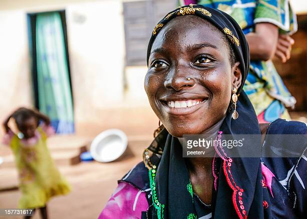 Smiling african woman.