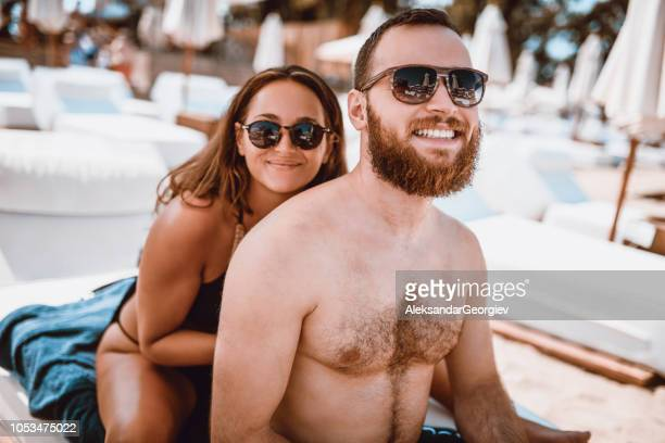 Smiling After Beach Massage