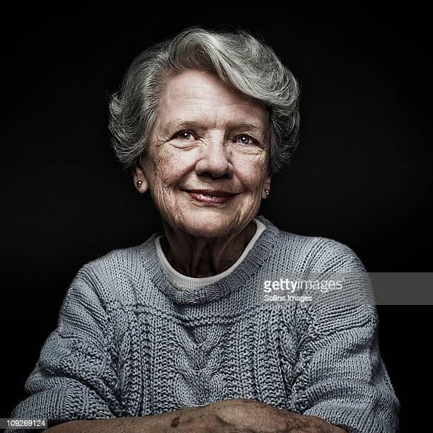 Smiling, aging Caucasian woman