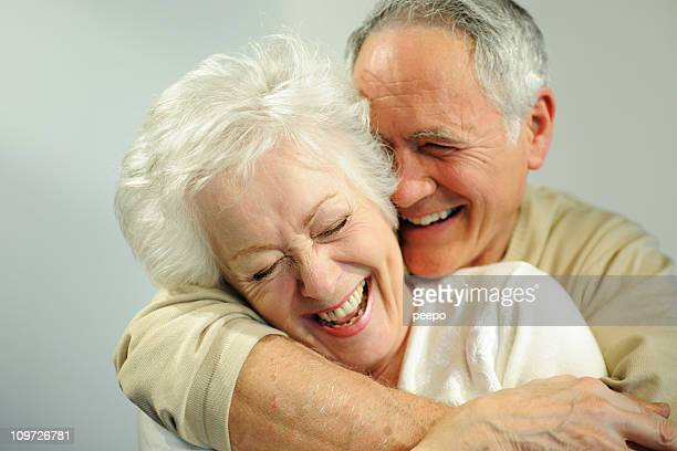 Smiling and Laughing Senior Couple