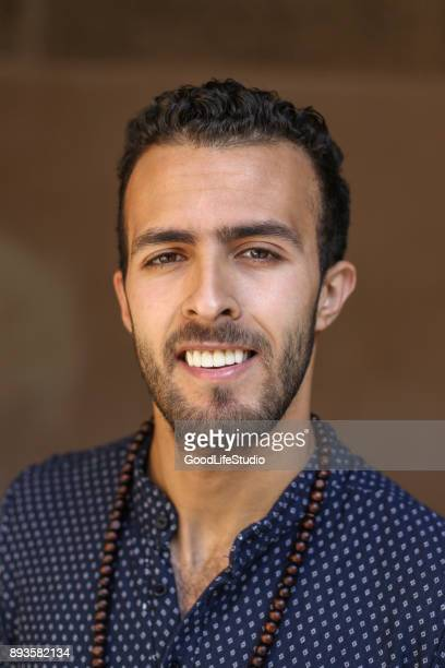 Smiling Arab man