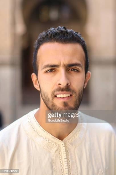 Smiling Arab man