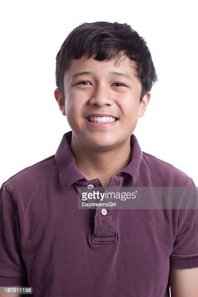 Smiling Asian Teenager