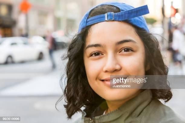 Souriante Jeune femme asiatique