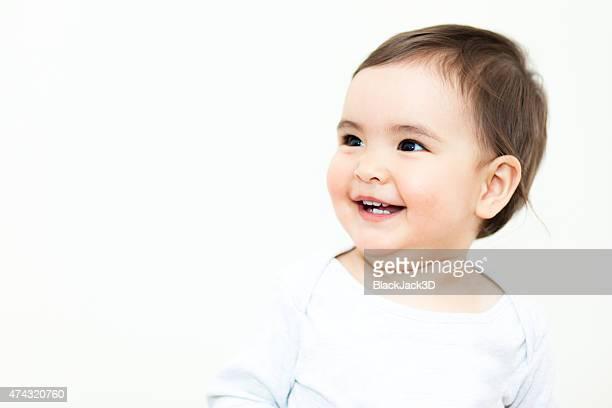 Souriant bébé fille
