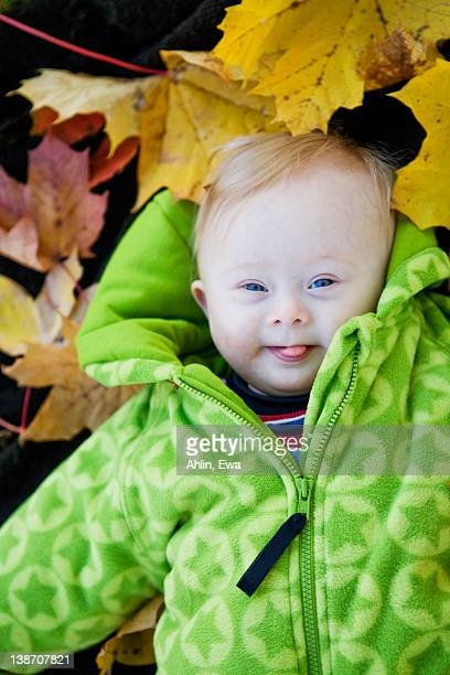 A smiling baby girl, Sweden.