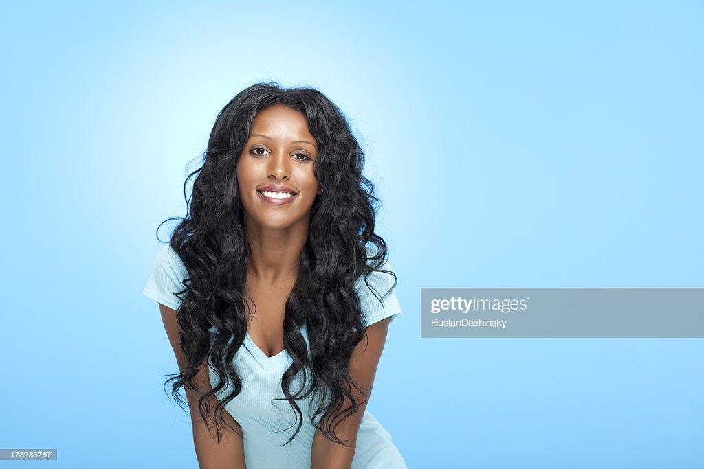 Smiling beautiful woman. : Stock Photo