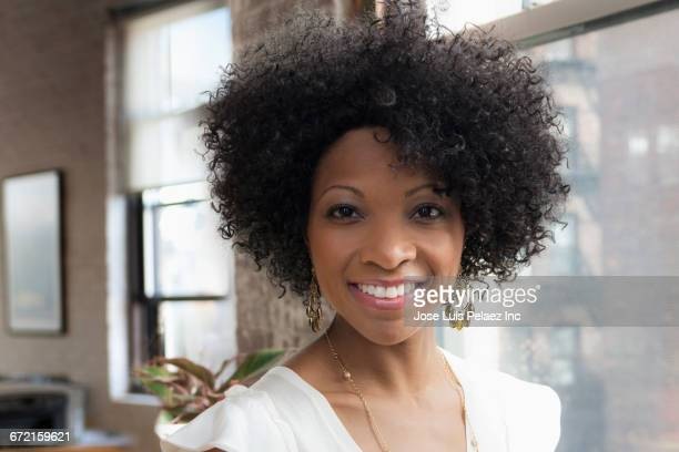 Smiling Black businesswoman