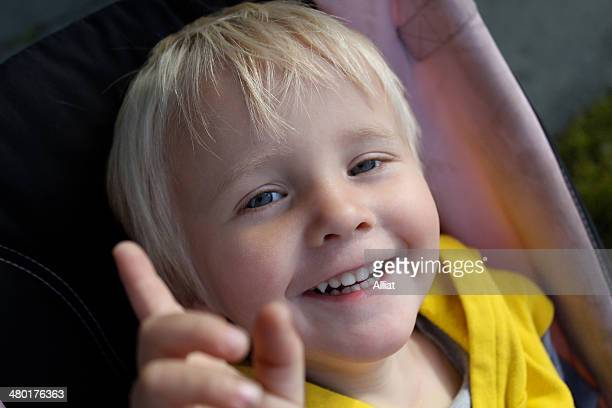 smiling boy, 2 years old, blonde - 2 3 years stock pictures, royalty-free photos & images
