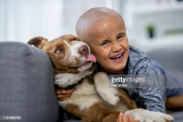 Smiling Boy with his Dog