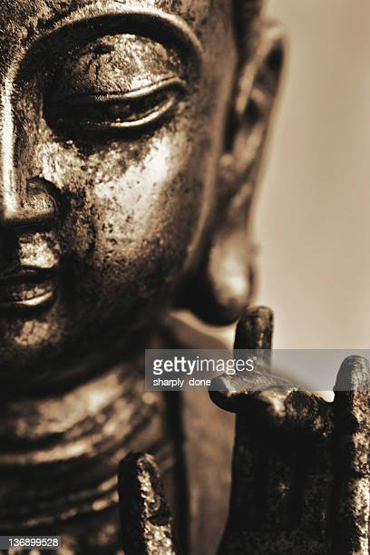 smiling buddha close-up
